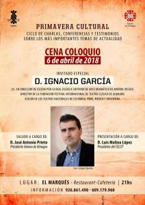 Cena coloquio con Ignacio García @ Restaurante El Marqués