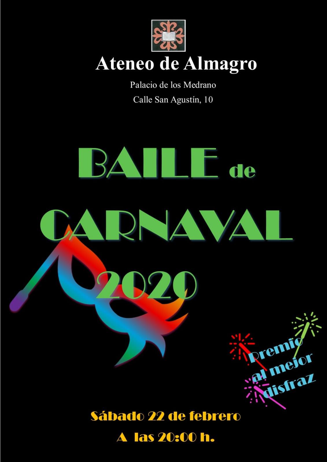 BAILE DE CARNAVAL 2020 @ Sede del Ateneo, Palacio de Los Medrano